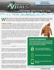 Regional Health In Focus: Seasonal Wellness (Winter)