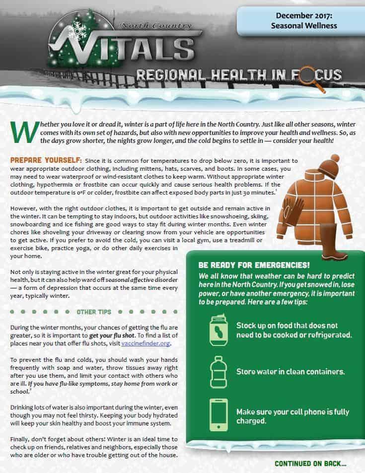 b573428e4ef0 Regional Health In Focus: Seasonal Wellness (Winter) | Fort Drum Regional  Health Planning Organization