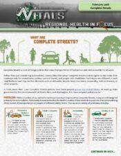 Regional Health In Focus: Complete Streets
