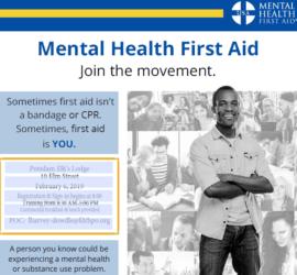 mental health first aid trainings