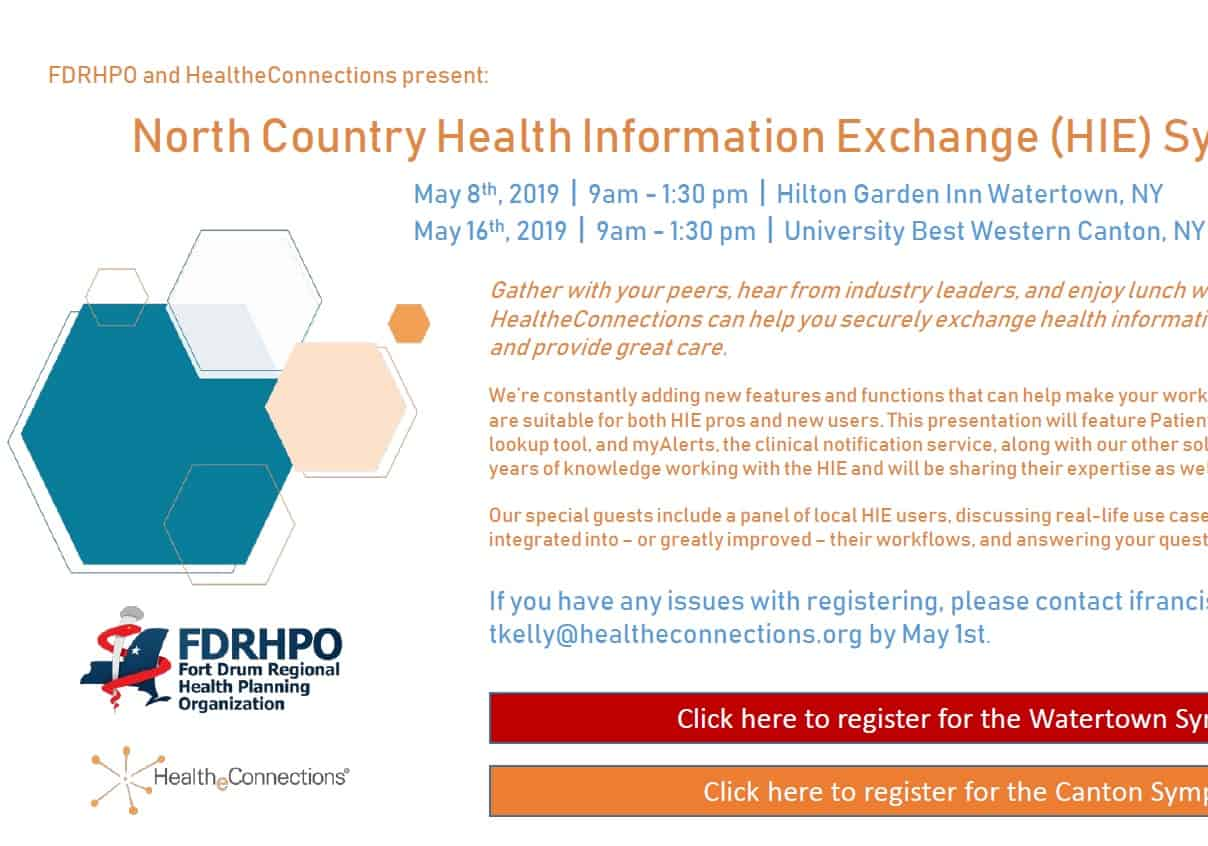 Two Health Information Exchange (HIE) Symposiums Upcoming